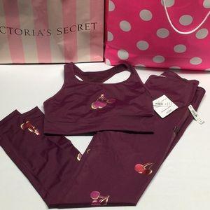 Victoria's secret sport top bra and leggings sz M
